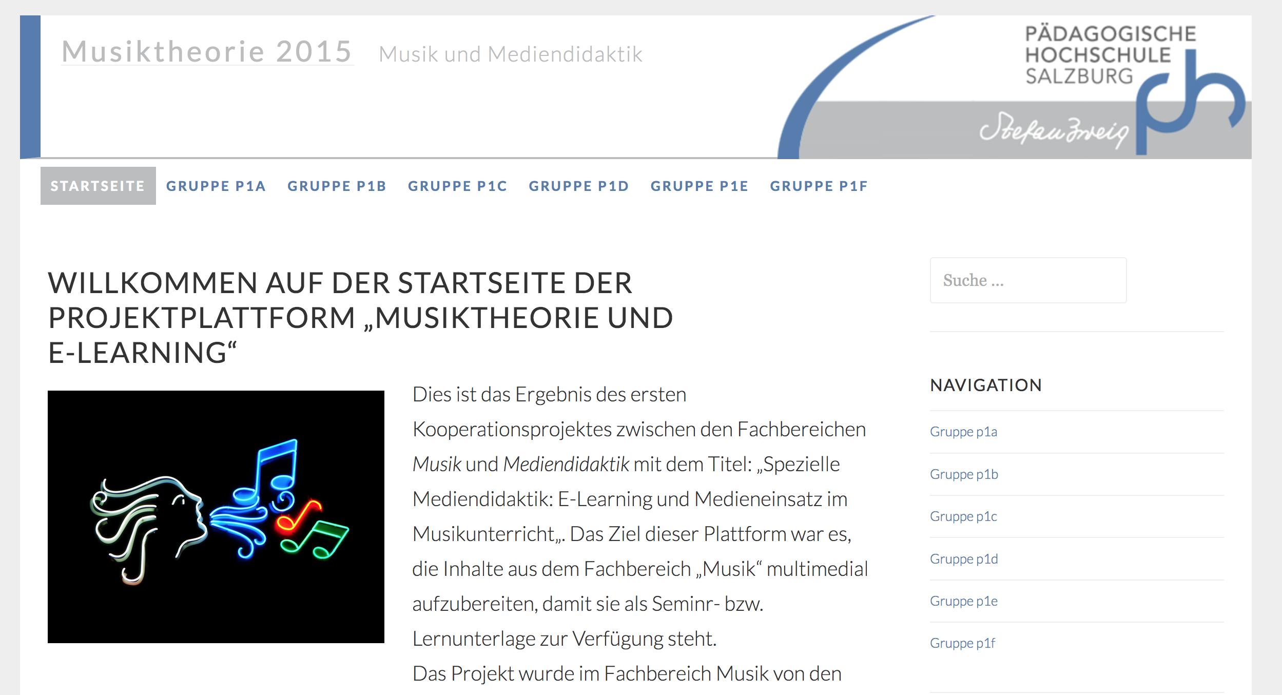 Musiktheorie 2015