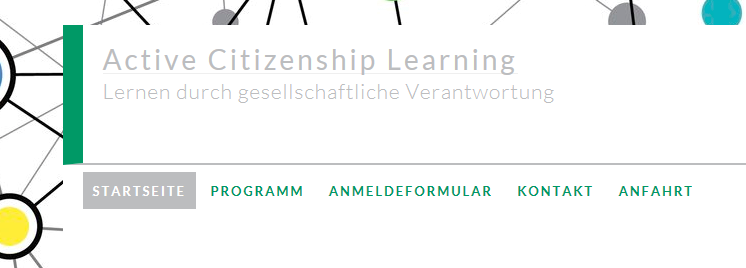 "Symposium ""Active Citizenship Learning""  – 18./19. Mai 2017"